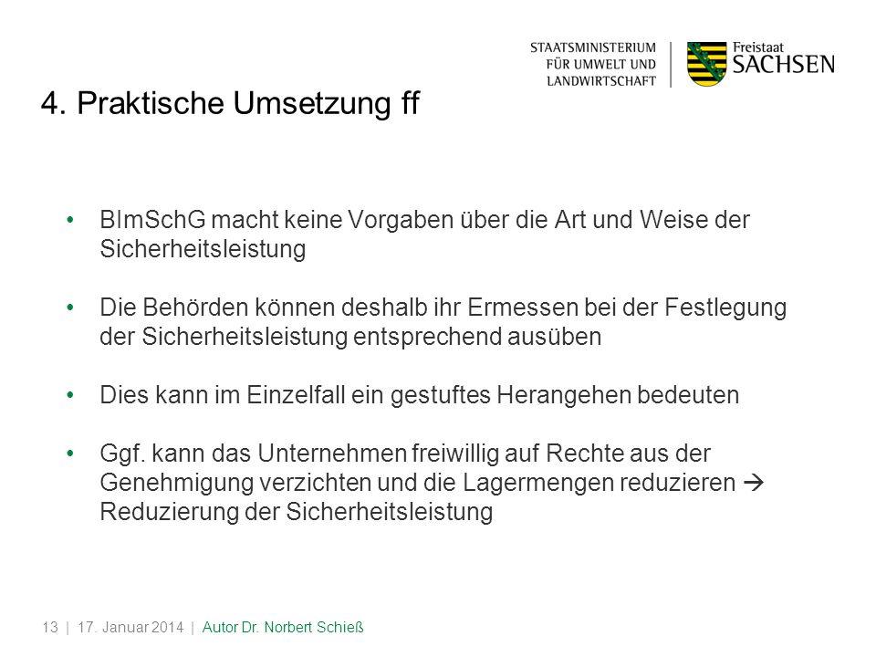 | 17.Januar 2014 | Autor Dr. Norbert Schieß13 4.