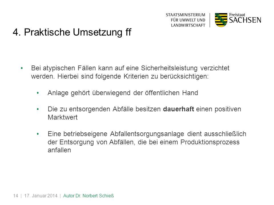 | 17.Januar 2014 | Autor Dr. Norbert Schieß14 4.