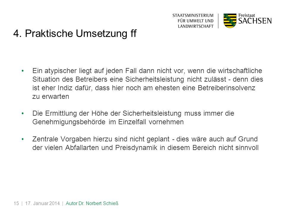 | 17.Januar 2014 | Autor Dr. Norbert Schieß15 4.