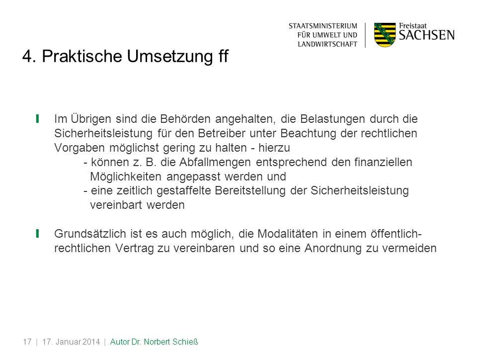 | 17.Januar 2014 | Autor Dr. Norbert Schieß17 4.