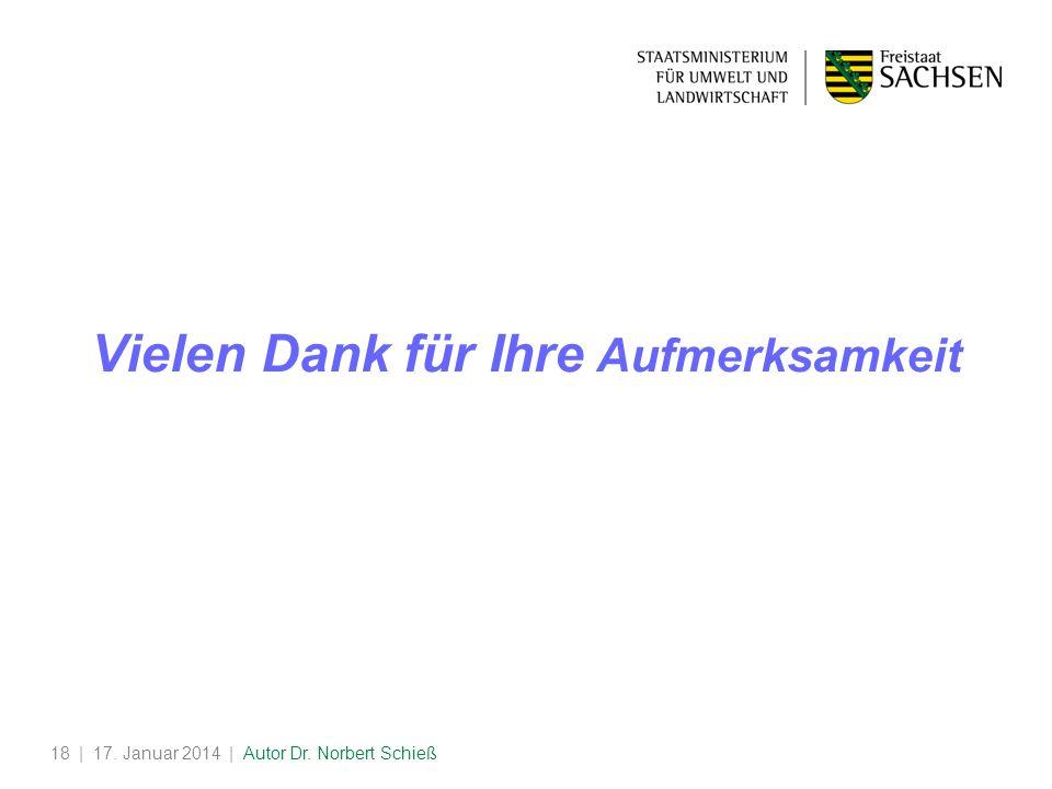| 17. Januar 2014 | Autor Dr. Norbert Schieß18 Vielen Dank für Ihre Aufmerksamkeit