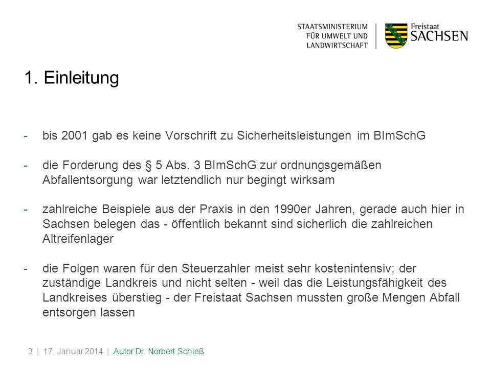 | 17.Januar 2014 | Autor Dr. Norbert Schieß3 1.