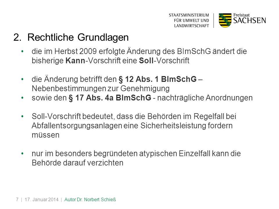 | 17.Januar 2014 | Autor Dr. Norbert Schieß7 2.