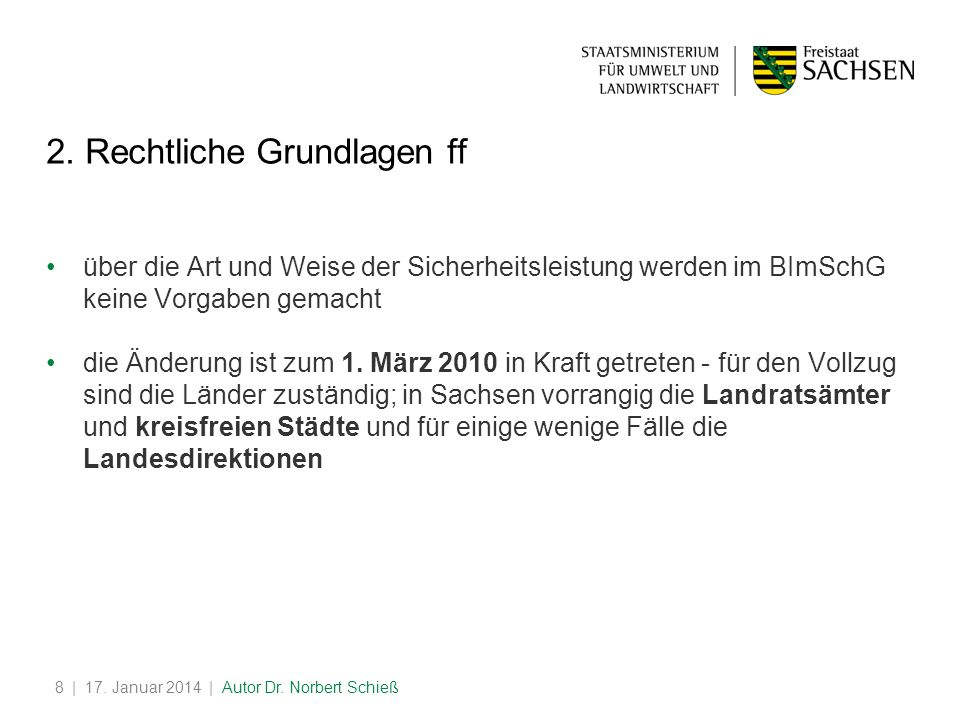 | 17.Januar 2014 | Autor Dr. Norbert Schieß8 2.