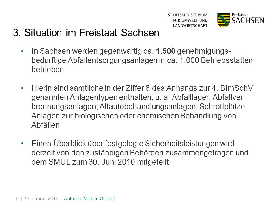 | 17.Januar 2014 | Autor Dr. Norbert Schieß9 3.