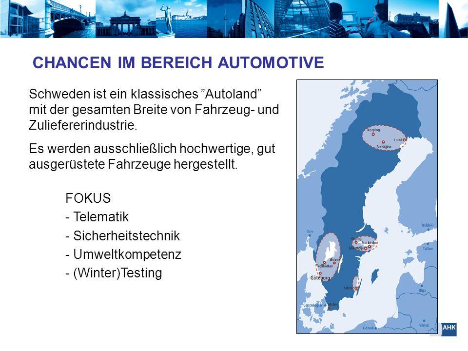FOKUS - Telematik - Sicherheitstechnik - Umweltkompetenz - (Winter)Testing Schweden ist ein klassisches Autoland mit der gesamten Breite von Fahrzeug-