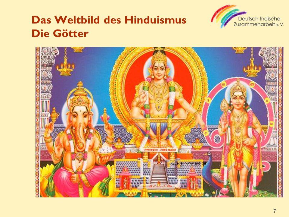 Das Weltbild des Hinduismus Die Götter 7 Quelle: www.ard.de