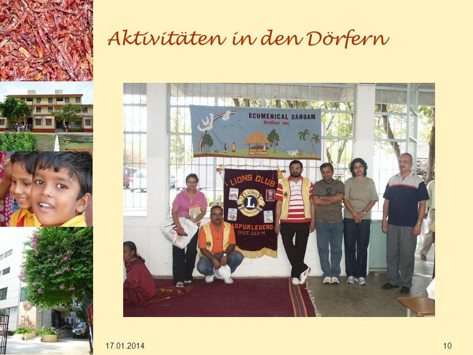 17.01.2014 10 Aktivitäten in den Dörfern