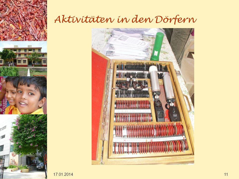 17.01.2014 11 Aktivitäten in den Dörfern