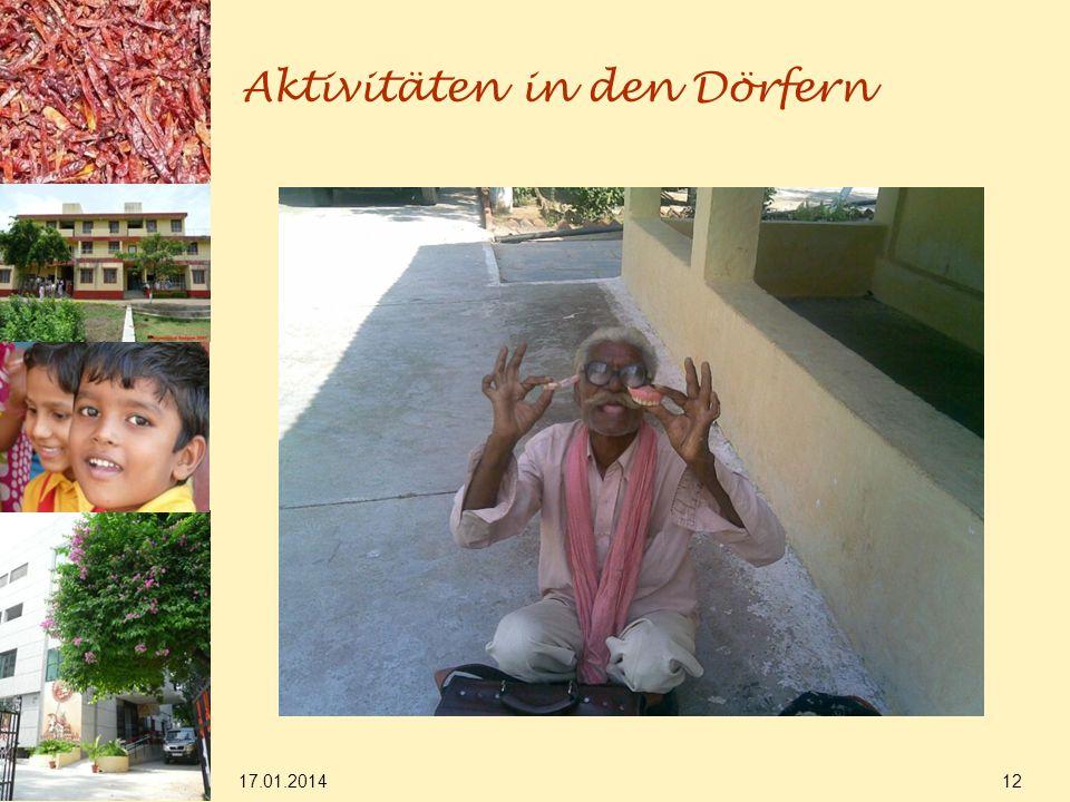 17.01.2014 12 Aktivitäten in den Dörfern