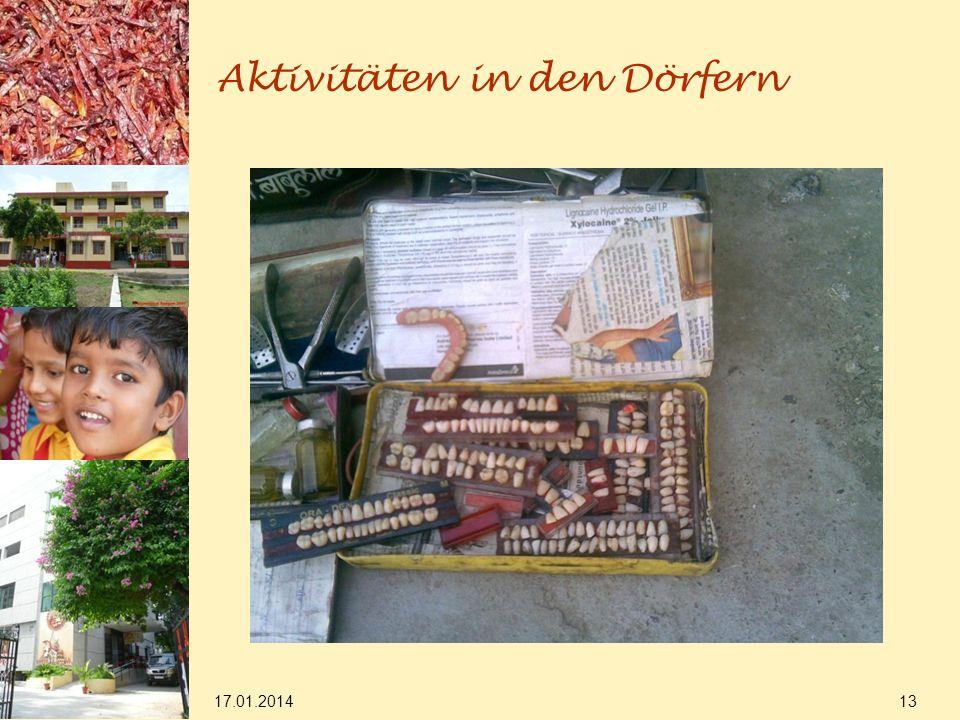 17.01.2014 13 Aktivitäten in den Dörfern