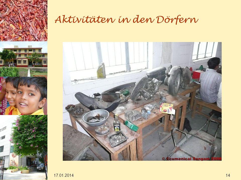 17.01.2014 14 Aktivitäten in den Dörfern