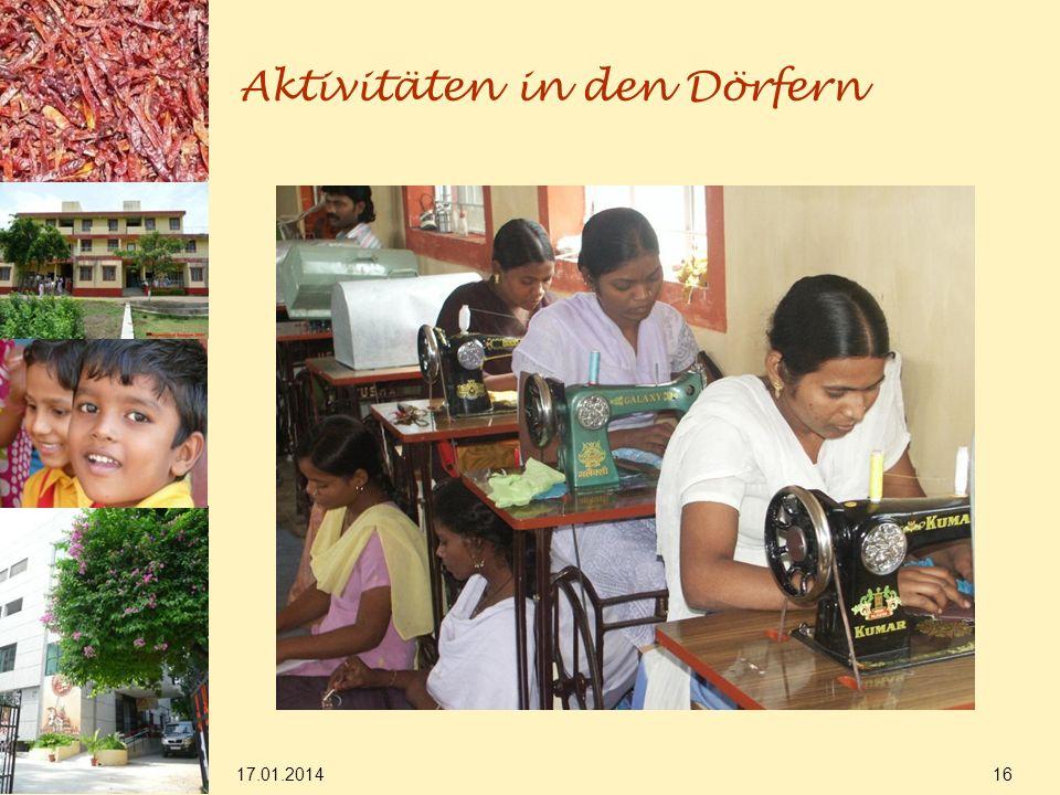 17.01.2014 16 Aktivitäten in den Dörfern