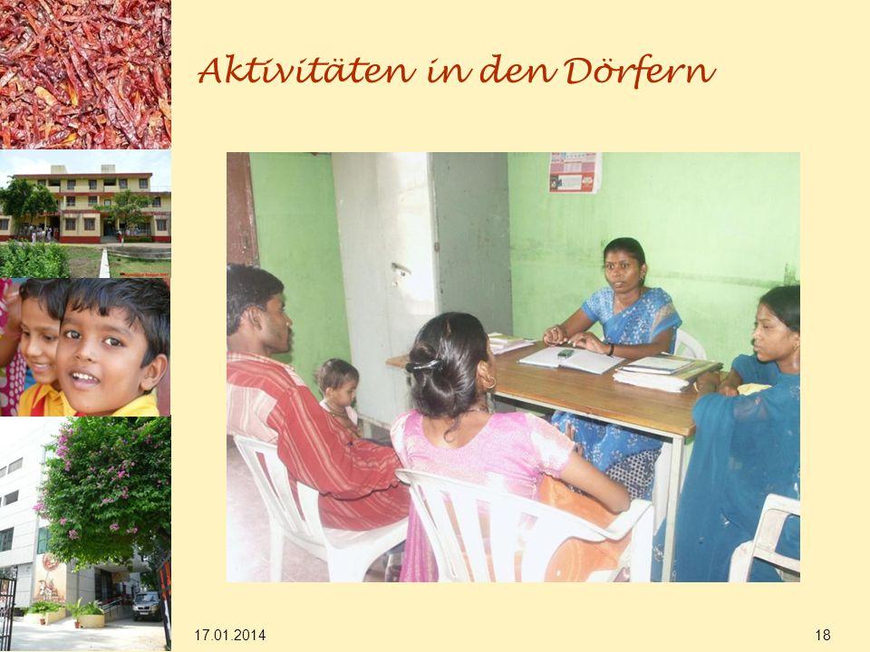 17.01.2014 18 Aktivitäten in den Dörfern