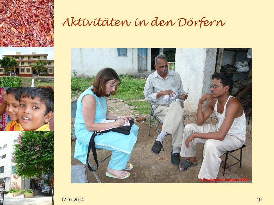 17.01.2014 19 Aktivitäten in den Dörfern