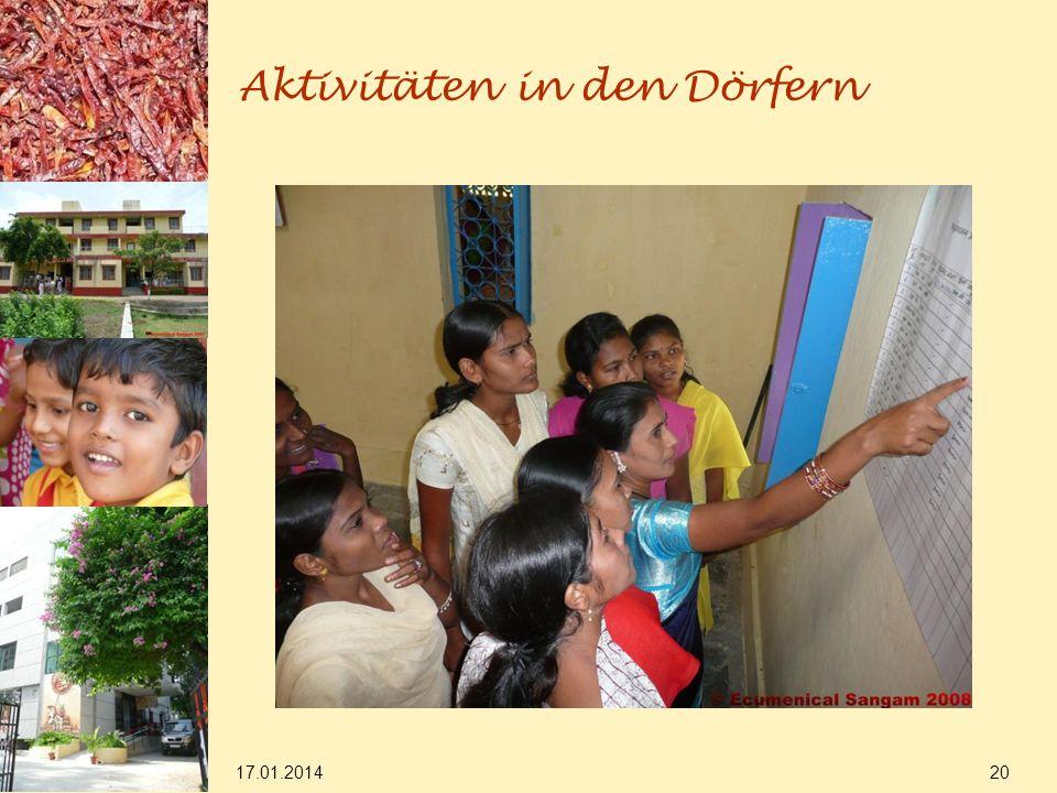 17.01.2014 20 Aktivitäten in den Dörfern