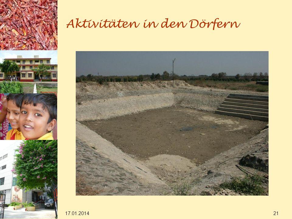 17.01.2014 21 Aktivitäten in den Dörfern