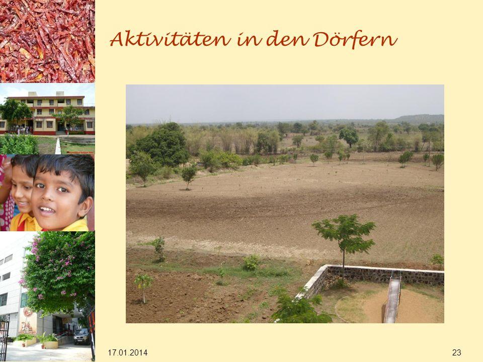 17.01.2014 23 Aktivitäten in den Dörfern