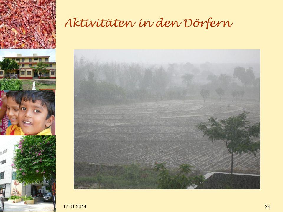 17.01.2014 24 Aktivitäten in den Dörfern