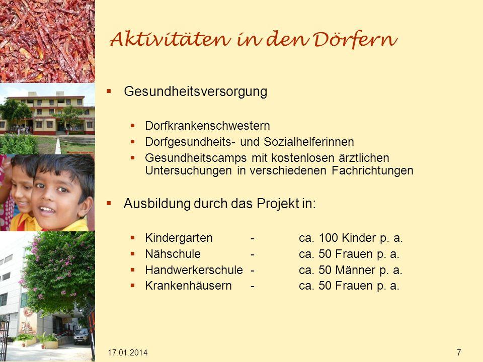 17.01.2014 8 Aktivitäten in den Dörfern