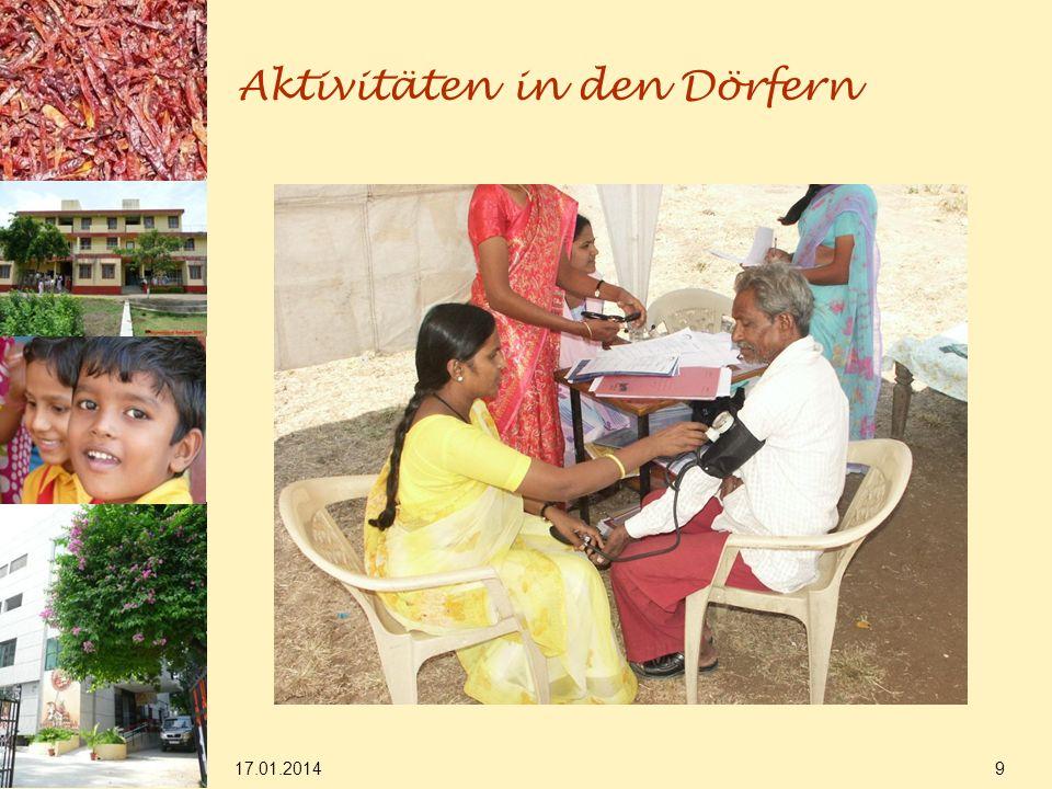 17.01.2014 9 Aktivitäten in den Dörfern