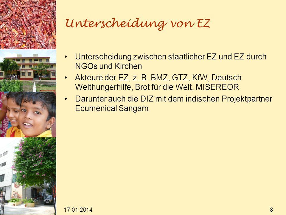 Unterscheidung von EZ Unterscheidung zwischen staatlicher EZ und EZ durch NGOs und Kirchen Akteure der EZ, z.