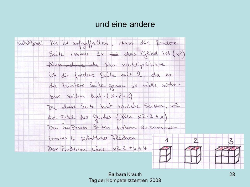 Barbara Krauth Tag der Kompetenzzentren 2008 28 und eine andere