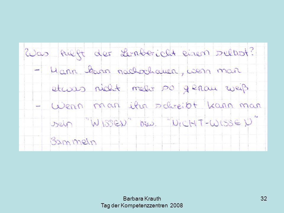 Barbara Krauth Tag der Kompetenzzentren 2008 32