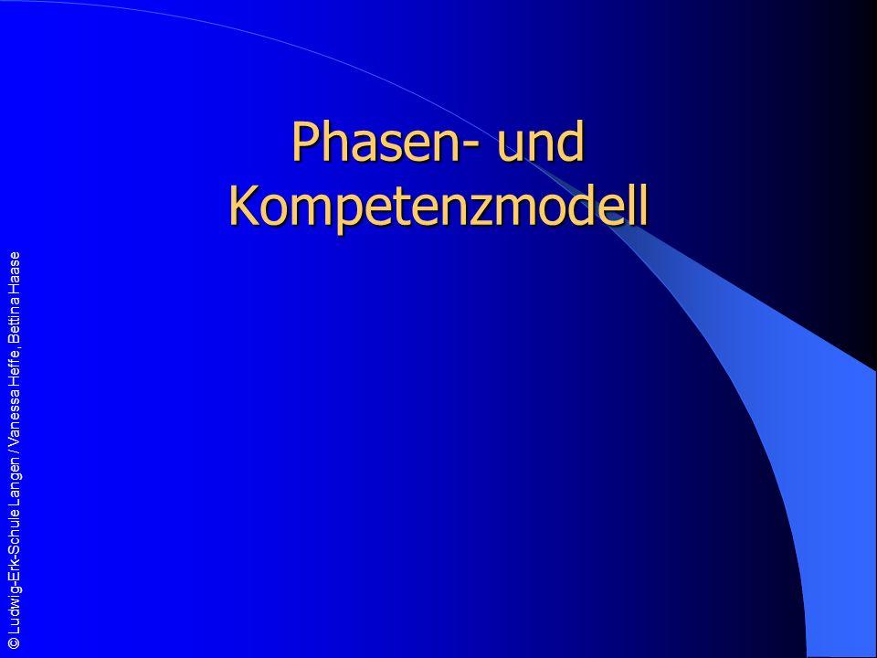 © Ludwig-Erk-Schule Langen / Vanessa Heffe, Bettina Haase Phasen- und Kompetenzmodell