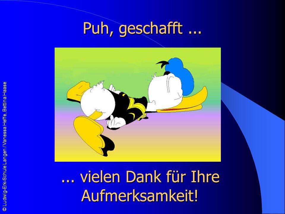© Ludwig-Erk-Schule Langen / Vanessa Heffe, Bettina Haase Puh, geschafft......