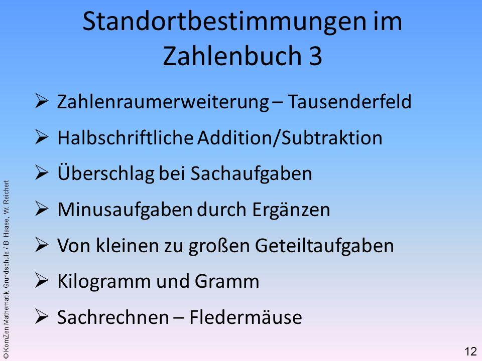 © KomZen Mathematik Grundschule / B. Haase, W. Reichert Zahlenraumerweiterung – Tausenderfeld Halbschriftliche Addition/Subtraktion Überschlag bei Sac
