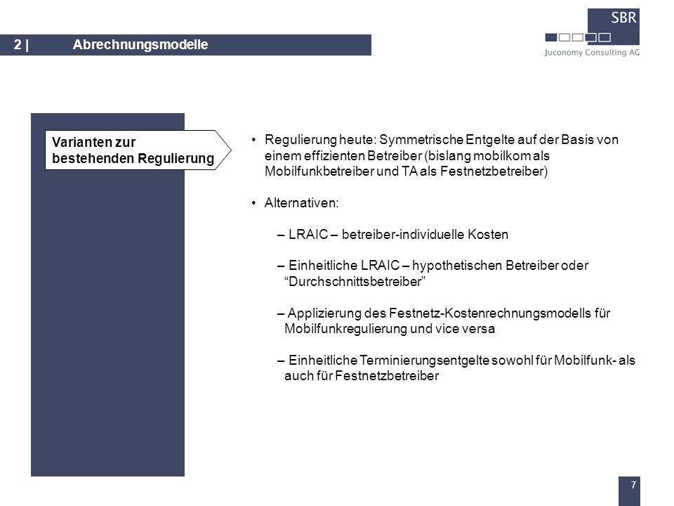 6 Inhalt Industriearbeitsgruppe 1 1 Abrechnungsmodelle 2 2 Evaluierungskriterien 3 3 Bewertung der Abrechnungsmodelle 4 4 Schlussfolgerung 5 5