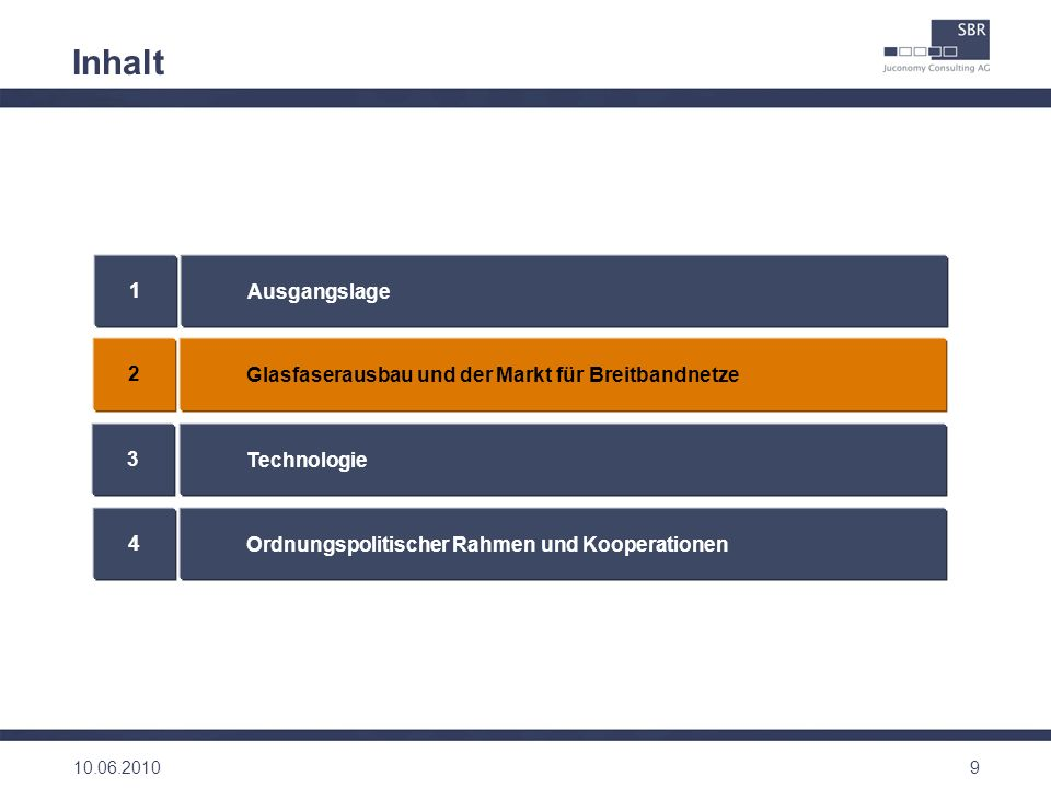 20 Ordnungspolitische Rahmenbedingungen Breitbandstrategie des Bundes Eckpunkte der BNetzA Anreizorientierter Ansatz mit Vier-Säulen-Strategie (Synergien, Frequenzen, Regulierung, Förderung) 15 Maßnahmen Kurzfristige (2010) und langfristige (2014) Ziele in Bezug auf Anschlussbandbreiten Umsetzung von Maßnahmen aus der Breitbandstrategie des Bundes, mit Fokus auf: Reduzierung von Risiken Sicherung von Investitions – und Innovationskraft Planungssicherheit Transparenz Förderung von Kooperationen / Open Access Nutzung bestehender Infrastrukturen zur Kostenreduktion Europäischer Rahmen New Framework / Empfehlung NGA / State Aid (weisse, graue, schwarze Flecken) Digitale Agenda 2020 mit korrespondierenden Breitbandzielen 10.06.2010 Für Errichtung neuer Netze erhebliche Tiefbauaktivitäten erforderlich Baugenehmigungen auf lokaler Ebene erforderlich Duplizierung der Arbeiten nicht erwünscht, aber notwendig, wenn zuvor nicht gemeinsamer Ausbau vereinbart wurde Wegerechte als Basisanforderung