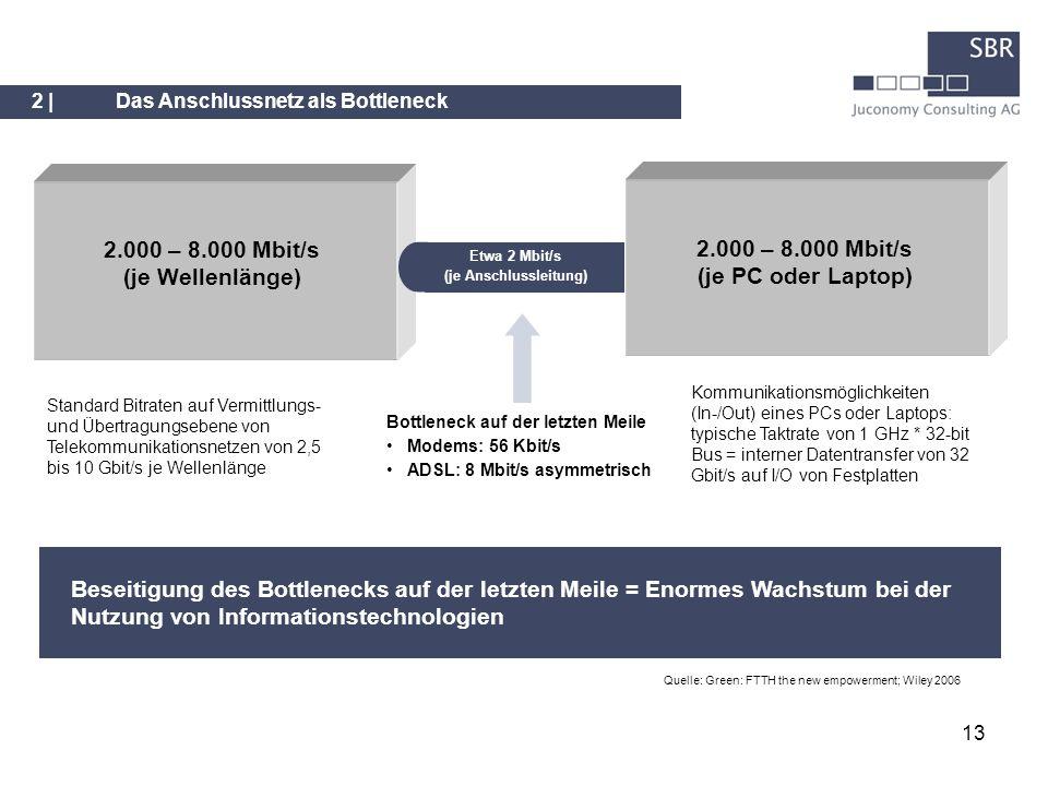 13 Beseitigung des Bottlenecks auf der letzten Meile = Enormes Wachstum bei der Nutzung von Informationstechnologien Quelle: Green: FTTH the new empow