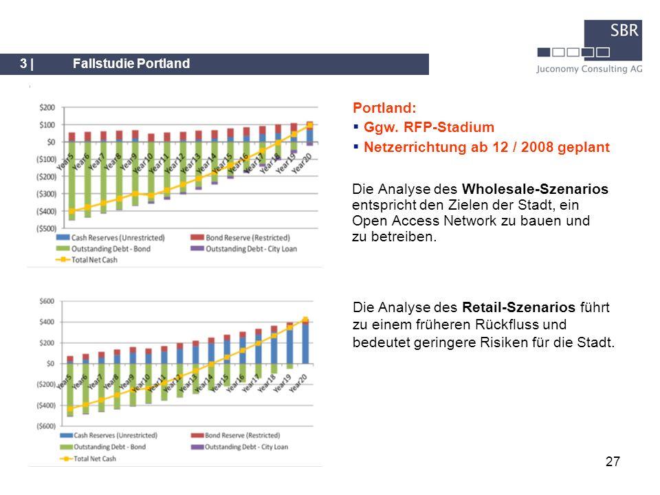 27 Die Analyse des Wholesale-Szenarios entspricht den Zielen der Stadt, ein Open Access Network zu bauen und zu betreiben. 3 |Fallstudie Portland Die