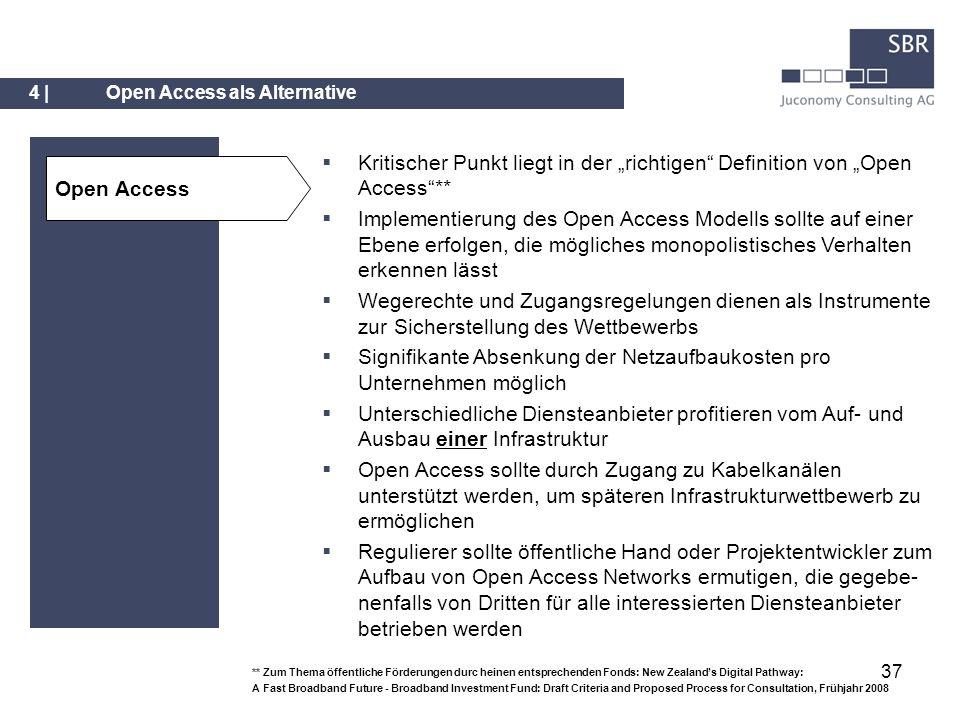37 Open Access Kritischer Punkt liegt in der richtigen Definition von Open Access** Implementierung des Open Access Modells sollte auf einer Ebene erf
