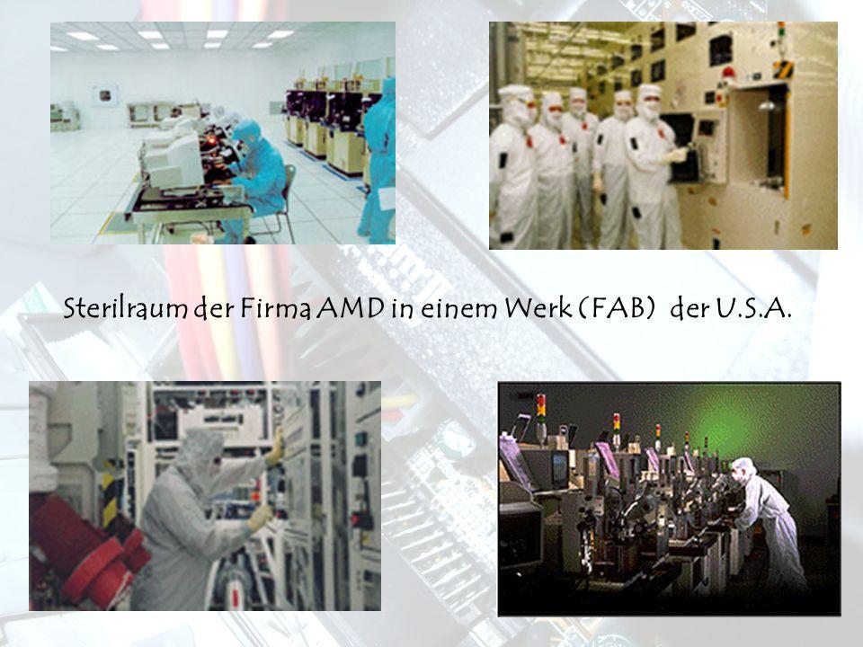 Sterilraum der Firma AMD in einem Werk (FAB) der U.S.A.