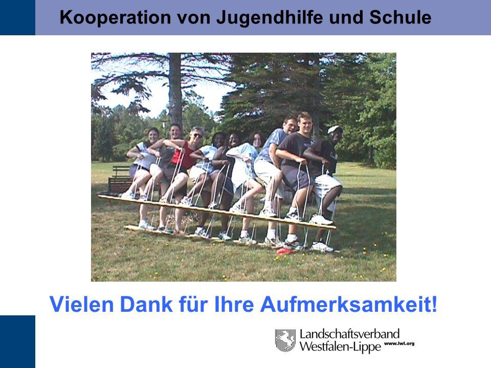Kooperation von Jugendhilfe und Schule Vielen Dank für Ihre Aufmerksamkeit!