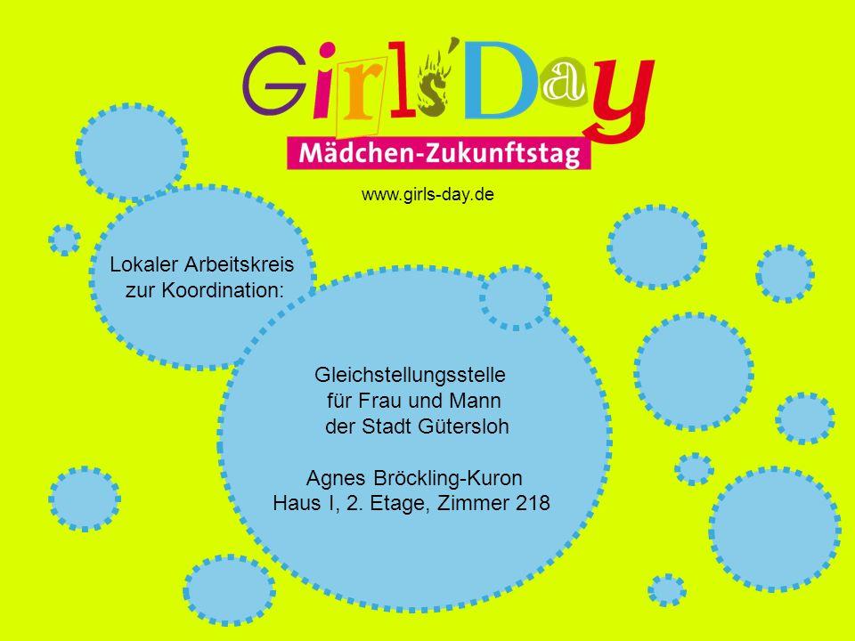 Lokaler Arbeitskreis zur Koordination: Gleichstellungsstelle für Frau und Mann der Stadt Gütersloh Agnes Bröckling-Kuron Haus I, 2.
