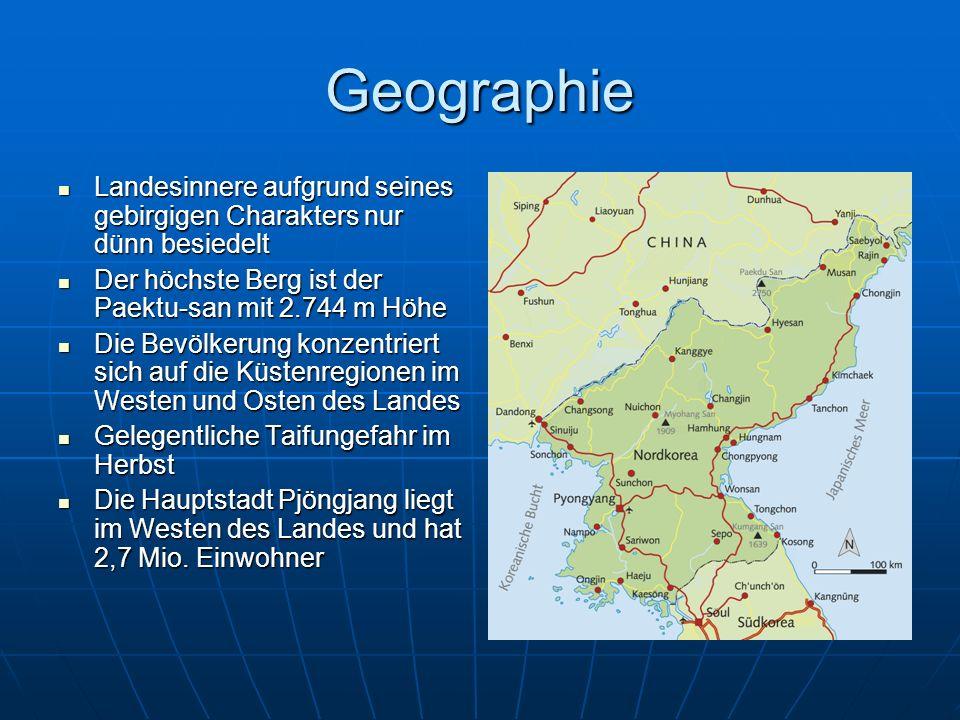Geographie Landesinnere aufgrund seines gebirgigen Charakters nur dünn besiedelt Landesinnere aufgrund seines gebirgigen Charakters nur dünn besiedelt