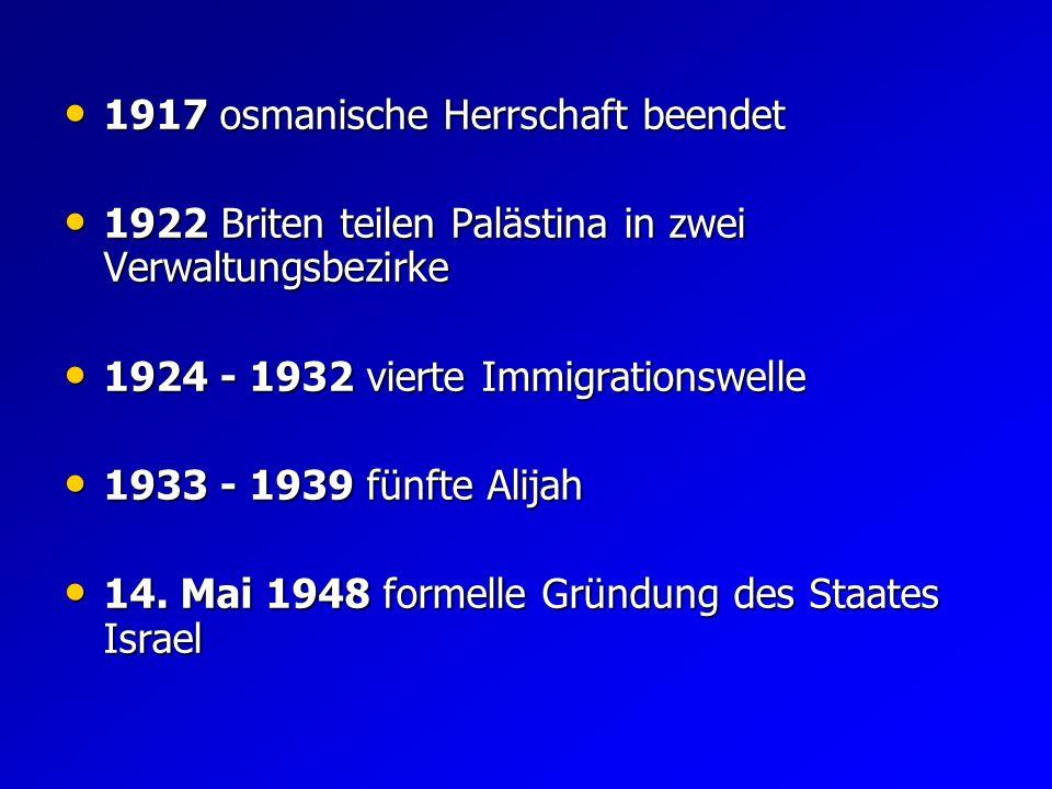 Mai 1948 bis Juli 1949 Mai 1948 bis Juli 1949 Israelischer Unabhängigkeitskrieg 1967 Sechstagekrieg 1967 Sechstagekrieg 1973 mehrere arabische Staaten greifen Israel an 1973 mehrere arabische Staaten greifen Israel an 1987 1.