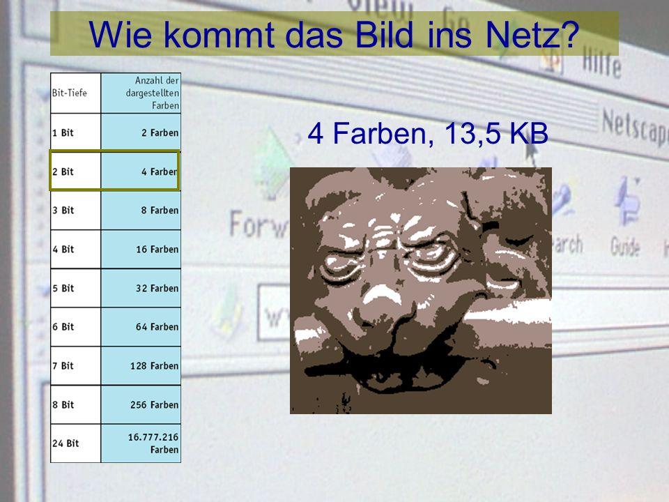 Wie kommt das Bild ins Netz? 2 Farben, 12 KB