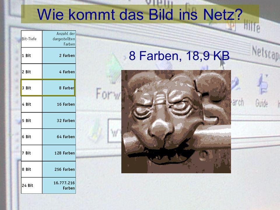 Wie kommt das Bild ins Netz? 4 Farben, 13,5 KB