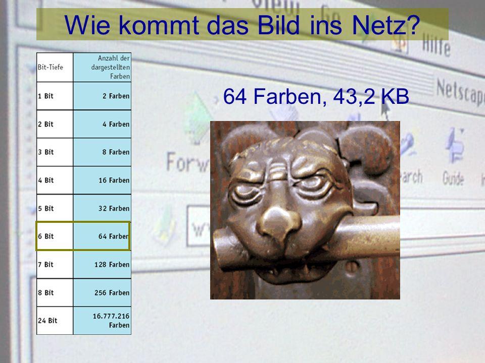 Wie kommt das Bild ins Netz? 32 Farben, 33,9 KB