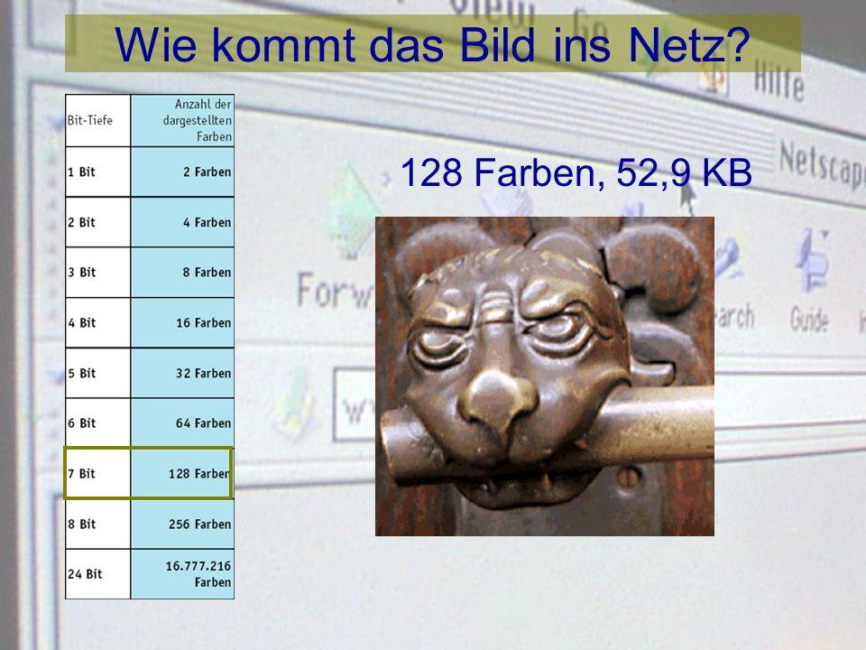 Wie kommt das Bild ins Netz? 64 Farben, 43,2 KB