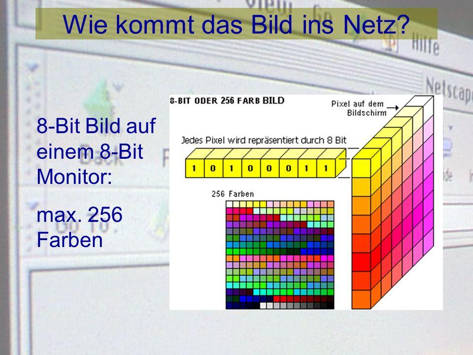 Wie kommt das Bild ins Netz? Additive Farben: Rot, Blau, Grün sind Primärfarben des Lichts