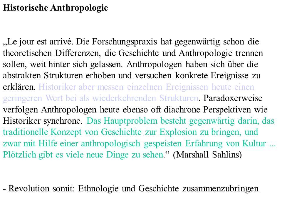 Historische Anthropologie Le jour est arrivé.
