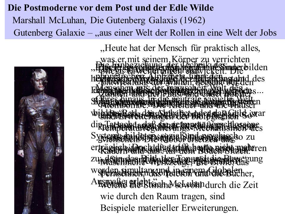 Der Mensch als werkzeugschaffendes Lebewesen, handle es sich um die Sprache, die Schrift oder das Radio, ist schon lange damit beschäftigt, das eine o