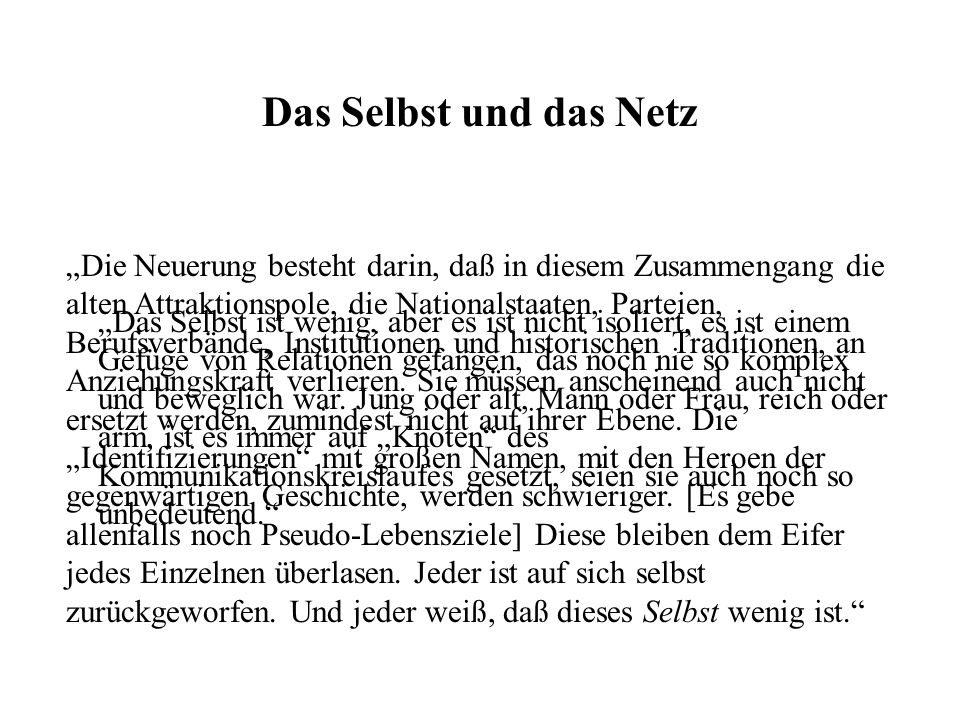 Postmodernes Wissen Die Erbringung des Beweises...