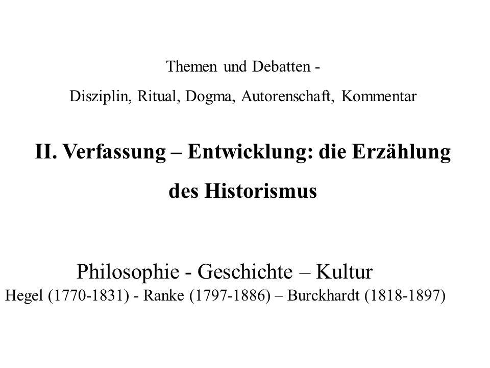 Themen und Debatten - Disziplin, Ritual, Dogma, Autorenschaft, Kommentar II.